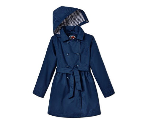 Allwetter-Trenchcoat mit recyceltem Material