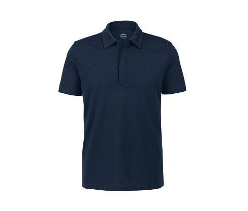 Funktions-Poloshirt mit Merinowolle