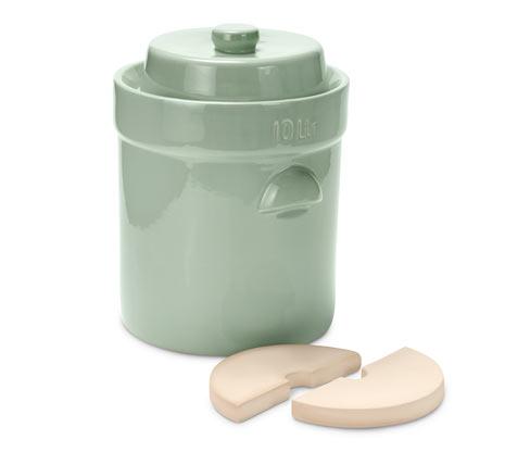 Tchibo MS-Steinzeug Gärtopf - Hellgrün