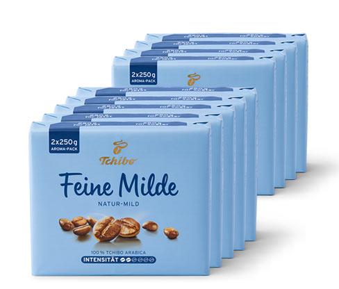 Tchibo Feine Milde - 9x 500 g Gemahlen