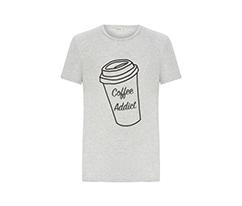Gri But First Coffee Erkek Tişört