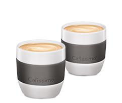 Porselen Kahve Fincanı, Gri, 125 ml