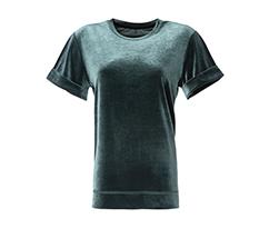 Kadife Tişört - Haki Yeşili