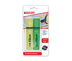 Edding Fosforlu Kalem Sarı-Yeşil 2'li