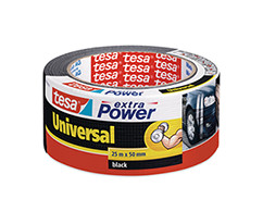 tesa® Extra Power Universal Duct Bant, Gaffer Bant, 25m:50mm, Siyah