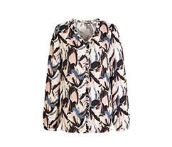 Renkli Volanlı Bluz