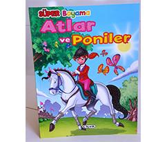 Süper Boyama - Atlar ve Poniler 1