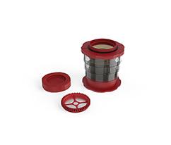 Kırmızı Manuel Kahve Demleyici