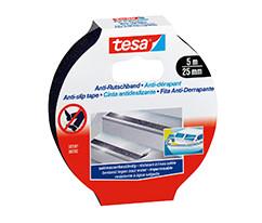 tesa® Kaydırmaz Bant Zemin Güvenliği için, 5m:25mm, Siyah