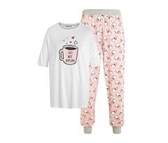 Pembe Coffee Pijama Takımı