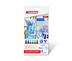 Edding Porselen Kalemi 6'lı Set- Soguk Renkler