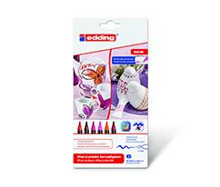 Edding Porselen Kalemi 6'lı Set- Sıcak Renkler