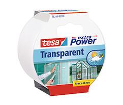 tesa® Extra Power Şeffaf Duct Bant, 10m:48mm, Şeffaf