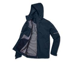 Férfi kabát minden időjárásra, sötétkék