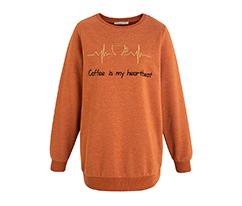 Kiremit Sloganlı Sweatshirt