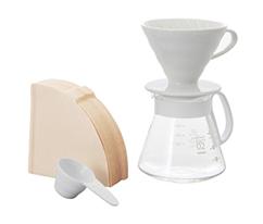 Hario V60 Beyaz Seramik Kahve Demleme Seti