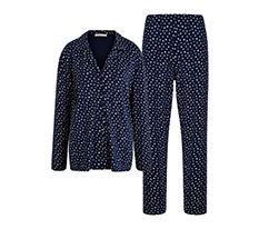 Lacivert Love Gömlek Pijama Takimi