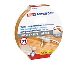 tesa® Powerbond® İnce Çift Taraflı Montaj Bandı, 5m:9 mm