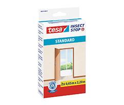 tesa® Sineklik Standart Çırt Bantlı, Kapı için, 2 x 0.65m:2.20m, Beyaz