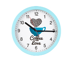 Renkli Kahve Aşkı Duvar Saati
