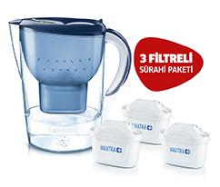 BRITA Marella XL Filtreli Su Arıtma Sürahi Mavi 3 Filtreli