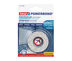 tesa® Powerbond® Ayna Çift Taraflı Montaj Bandı, 1.5m:19mm