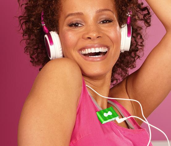 MP3 přehrávač, zelený