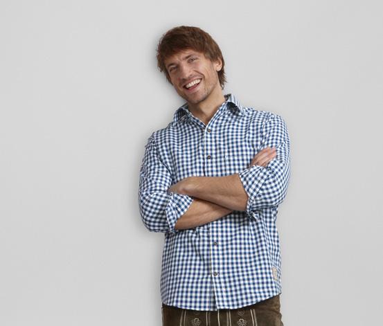 Kostkovaná košile, modro-bílá