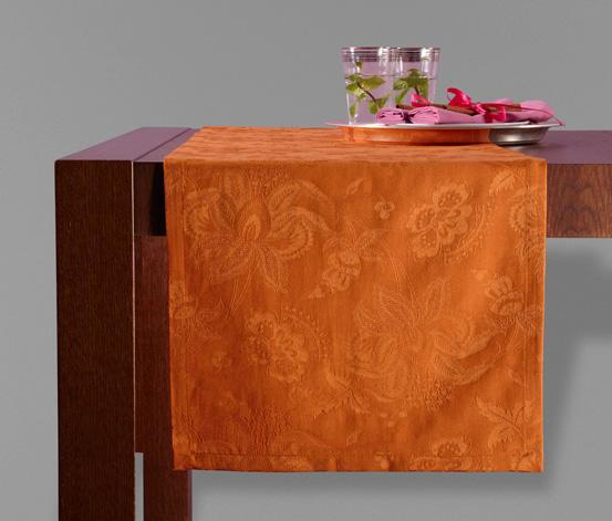 Jacquard-asztali futó, narancssárga