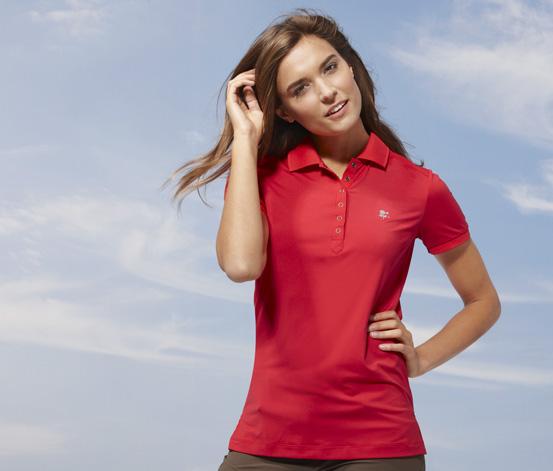 Damska funkcyjna koszulka polo, czerwona
