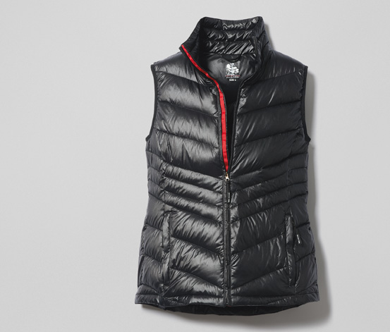 Dámská prošívaná vesta z vysoce kvalitního prachového peří