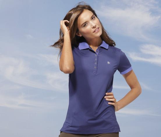 Damska funkcyjna koszulka polo, niebieska