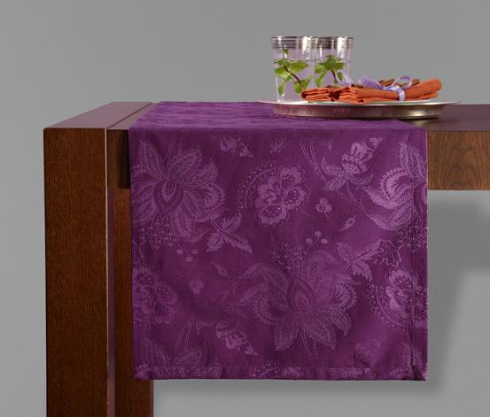 Žakárový běhoun na stůl, fialový