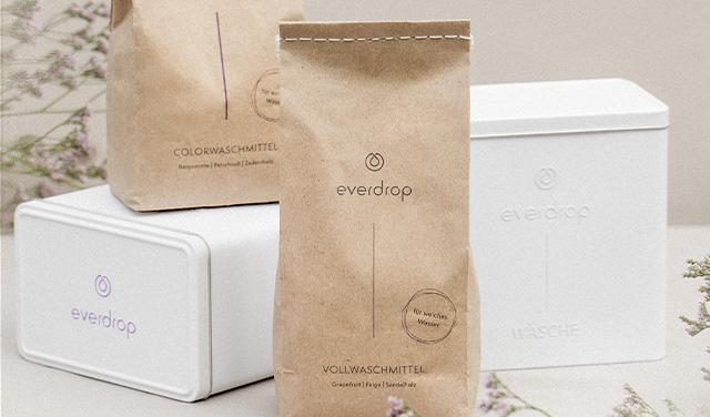 Umweltfreundliche Waschmittel von everdrop bei Tchibo