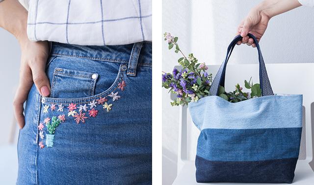 Refashion | Upcycling Jeans Jeanshose für große Größen neu