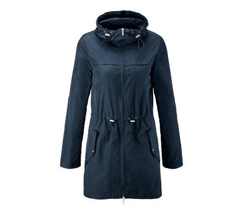 Női könnyű parka kabát, kék