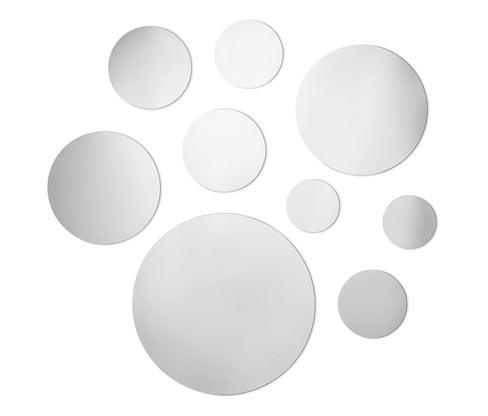 Samolepiace zrkadlové nálepky, 9 ks