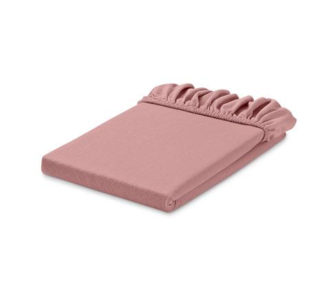 Gumis jerseylepedő, rózsaszín, dupla