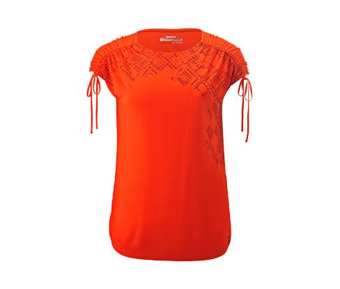 Dlouhé triko s řasením