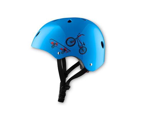 Biciklis sisak, világoskék