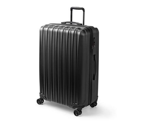 Twarda walizka na czterech kółkach, duża