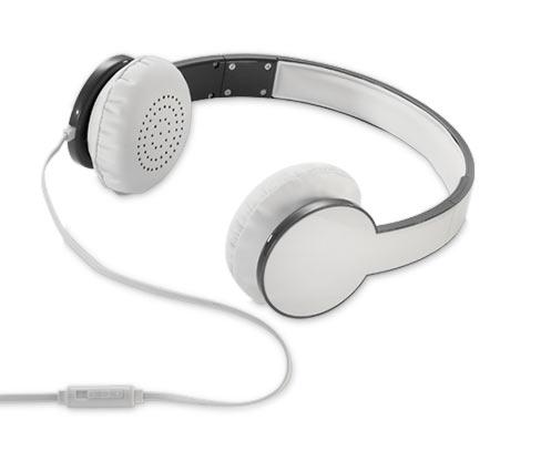 Stereo-Kopfhörer, weiss und anthrazit