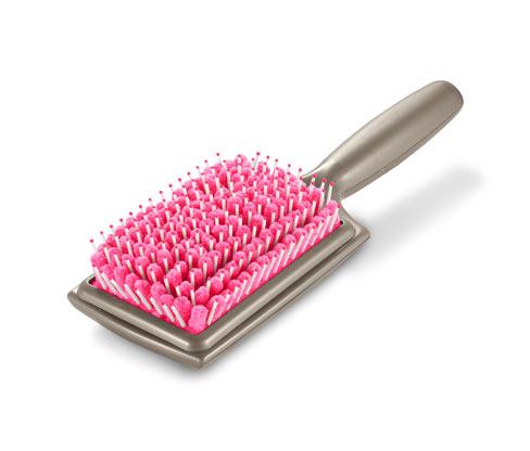 Kartáč na vlasy s mikrovlákennými štětinami