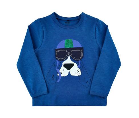 Chłopięca bluzka z bawełny z motywem psa