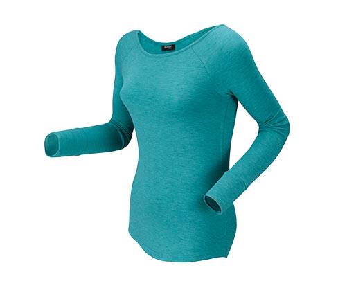 Wellness triko, modře melírované