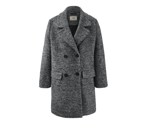 Női kabát, szürke