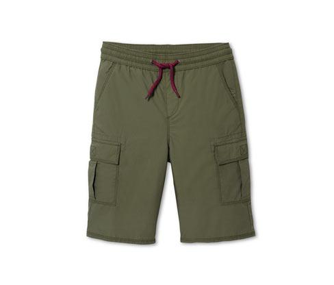 Fiú oldalzsebes rövidnadrág, khaki