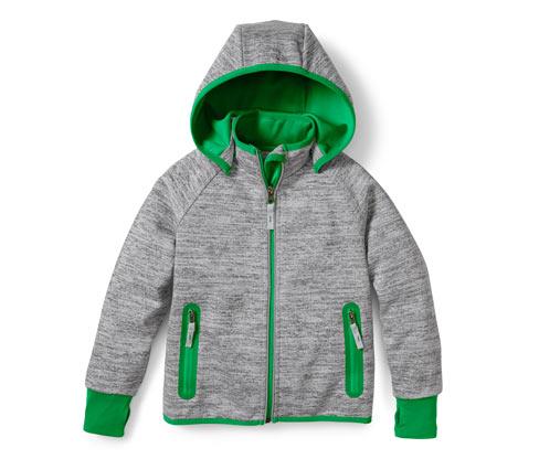 Fiú softshell dzseki, szürke-zöld