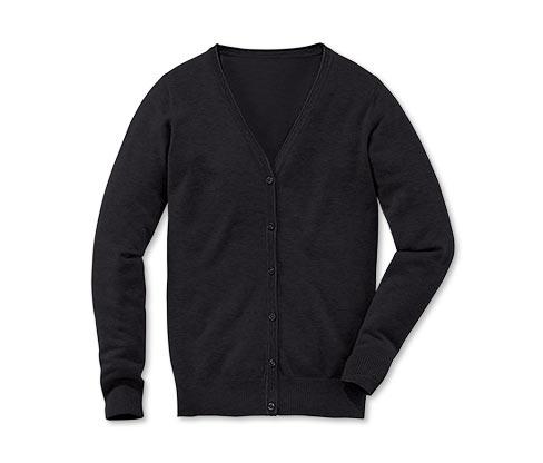 Feinstrickcardigan, schwarz