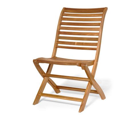 Összecsukható íves kerti szék, akác